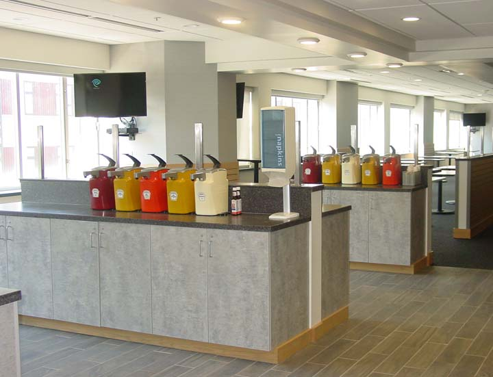 N Grid Cafe Serving Area